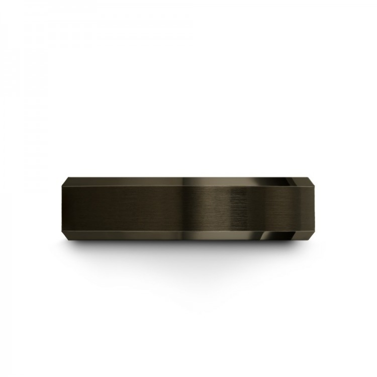 Moonlit Graphite Royal Bliss 6mm Flare Latest Wedding Rings