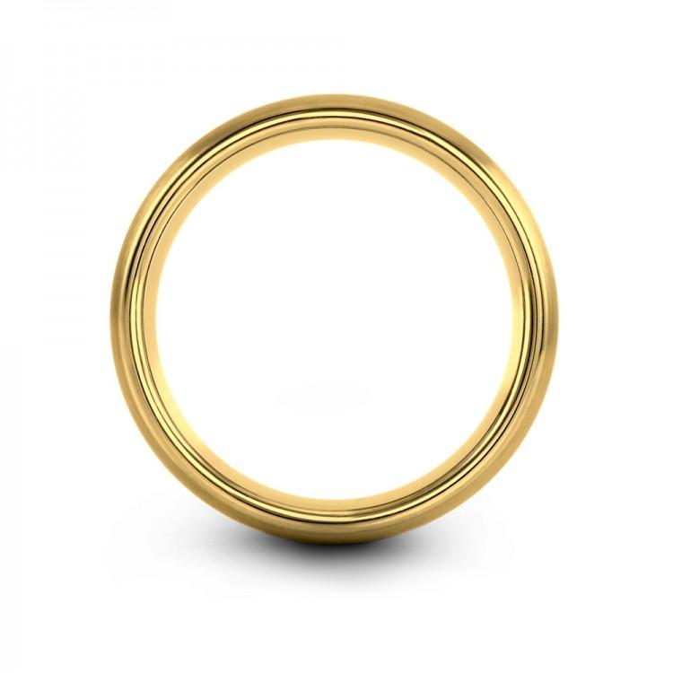 Yellow Gold Aqua Teal 8mm