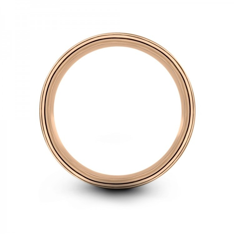 Rose Gold 6mm Unique Wedding Band