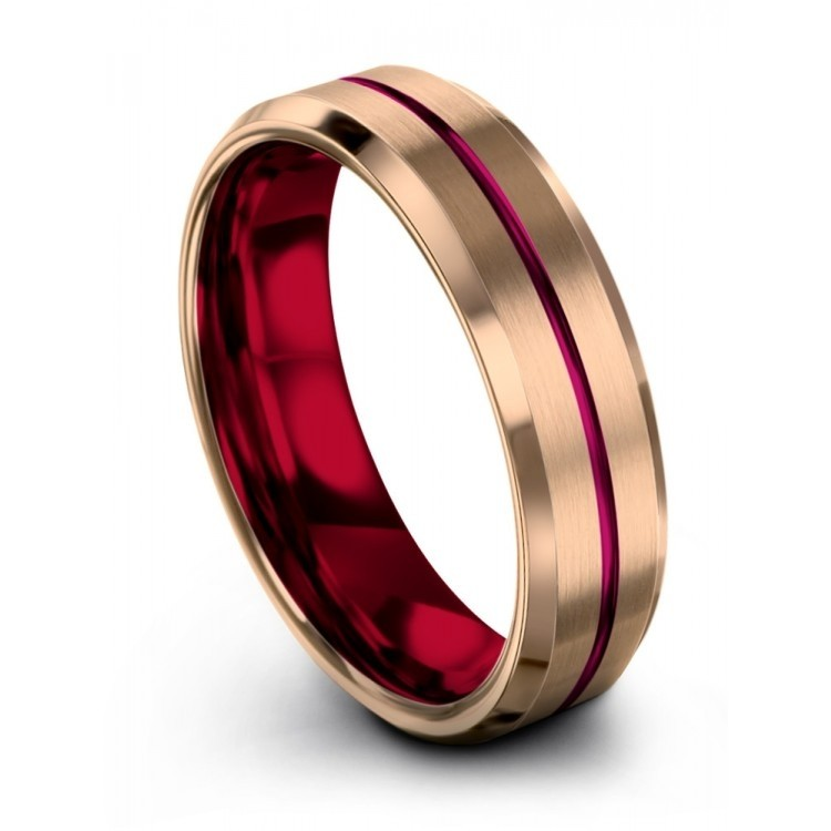Rose Gold Crimson Allure Cosmic Flare Latest Wedding Ring