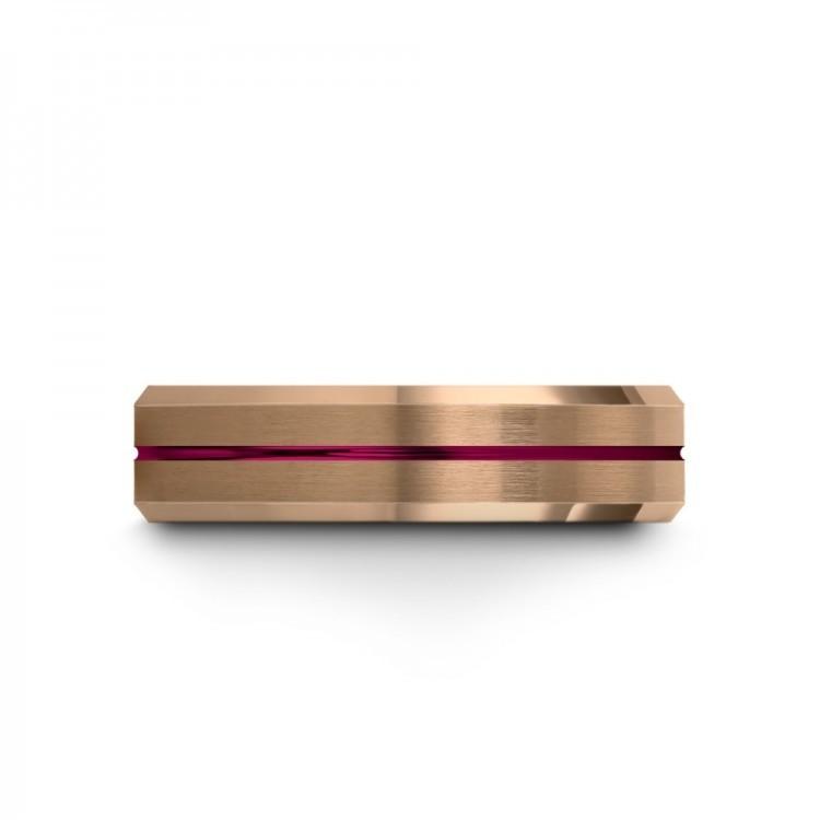 Rose Gold Crimson Allure Cosmic Flare Latest Wedding Rings
