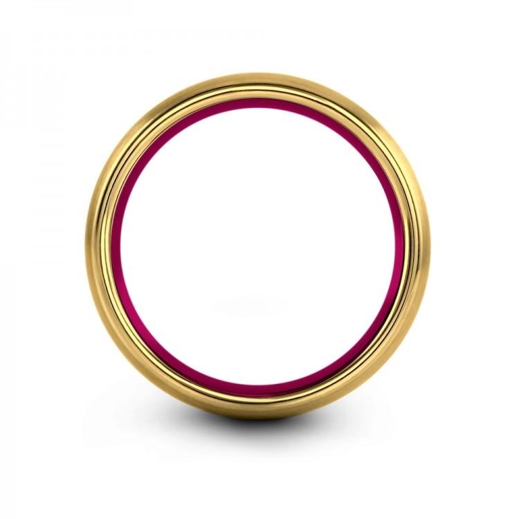 Yellow Gold Cosmic Flare 6mm Fancy Wedding Rings