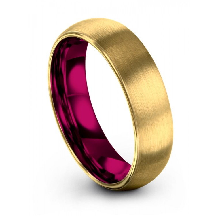 Yellow Gold Cosmic Flare 6mm Fancy Women Wedding Rings