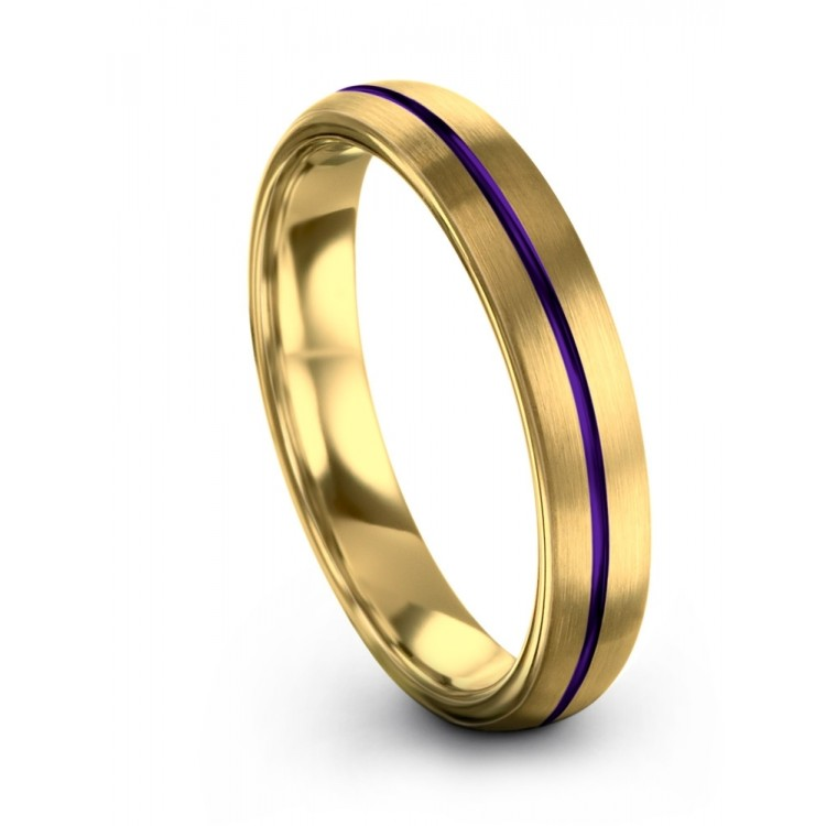 Yellow Gold Royal Bliss 4mm Unique Women Wedding Rings