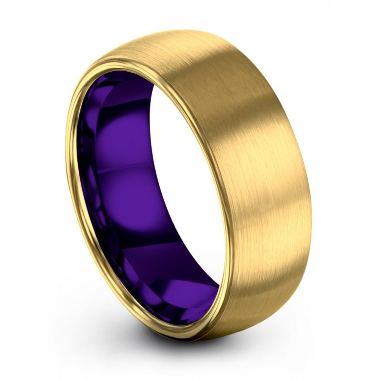 Yellow Gold Royal Bliss 8mm Fancy Women Wedding Rings