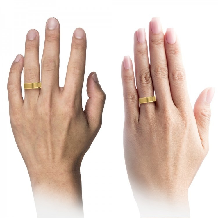 Yellow Gold Royal Bliss 8mm Latest Unique Wedding Bands
