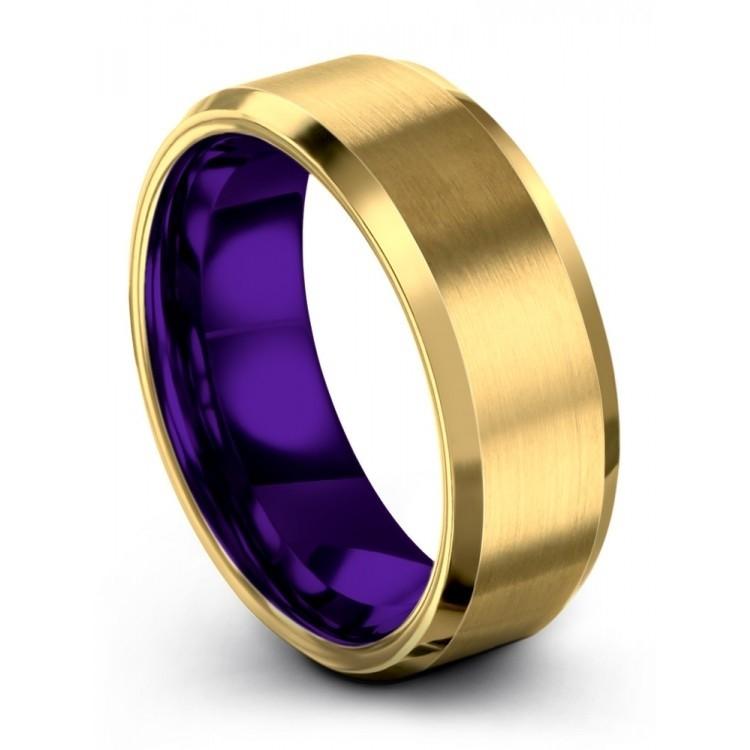 Yellow Gold Royal Bliss 8mm Latest Wedding Ring