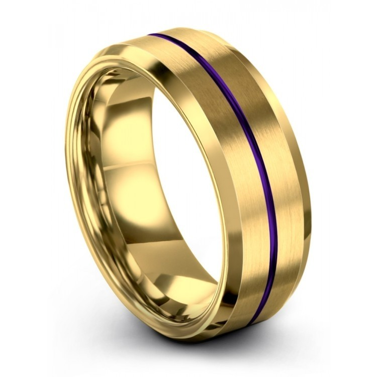 Yellow Gold Royal Bliss 8mm Latest Wedding Ring